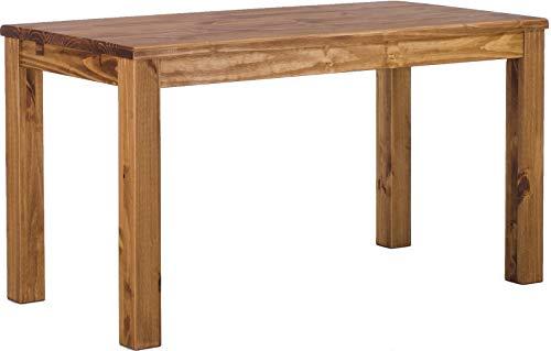 Brasilmöbel Esstisch Rio Classico 130x80 cm Brasil Massivholz Pinie Holz Esszimmertisch Echtholz Größe und Farbe wählbar ausziehbar vorgerichtet für Ansteckplatten