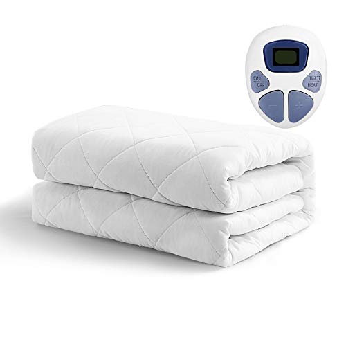 MAEVIS Heated Mattress Pad Full Size10 Heat SettingQuilted Electric Mattress Pads Fit up to 15quot with 112 Hours Auto Shut Off White Full54quotx75quot