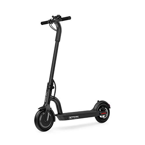 Jetson Eris Folding Adult Electric Scooter, Black - with Phone Holder and LCD Display