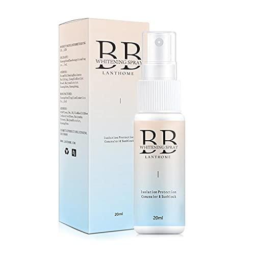 GAOwi 20 ml BB Crema Blanqueamiento Spray Protección Solar hidratante Duradero de Largo para blanquear y Corredor Hot BB Cream Spray de blanqueamiento para Mujeres
