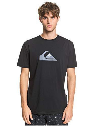 Quiksilver Herren Screen Tee Comp Logo - T-Shirt Für Männer, Black, M, EQYZT05750
