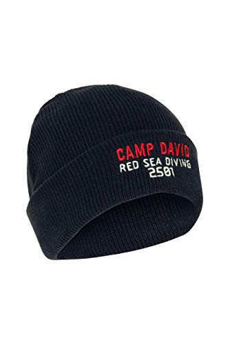 Camp David Herren Strickmütze mit Logostickerei