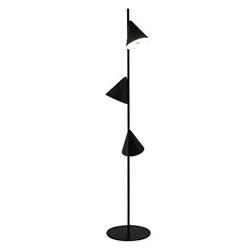 LJYY Lámpara de pie para Dormitorio 3 LED Lámpara de pie Blanca cálida Moderna Minimalista Lámpara Alta con Base de Metal Negro para Sala de Estar para Estudio de Lectura