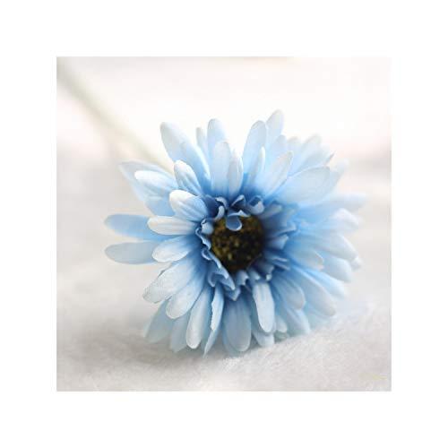 KenFandy 1Pcs Silk Daisy Artificial Flowers For Party Home Floral Decor Wedding Decoration Decorative Fake Flower,C