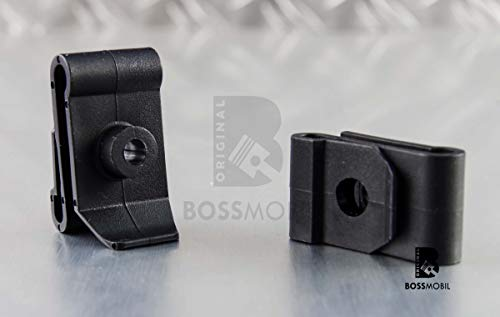 Original BOSSMOBIL kompatibel mit UNIVERSAL BEFESTIGUNG CLIP HALTERUNG STOßSTANGE KLEMMMUTTER SPREIZNIETE #NEU# 36 X 20 X 5 mm Menge: 10 Stück