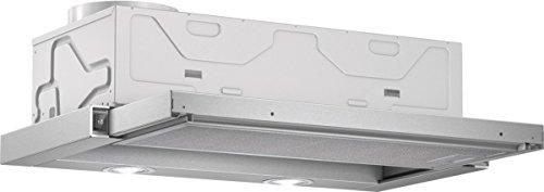 Bosch DFL064W50 Serie 2 Flachschirmhaube / C / 60 cm / Silbermetallic / wahlweise Umluft- oder Abluftbetrieb / Wippenschalter / Intensivstufe / Metallfettfilter (spülmaschinengeeignet)