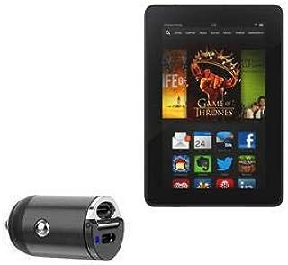 Carregador de carro Kindle Fire HDX 7 (3ª geração 2013), BoxWave [Mini Carregador de carro Dual PD] Rápido, 2 carregadores...