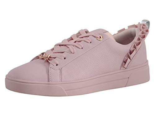 Ted Baker Women's ASTRINA Sneaker, Mink Pink Leather, 6 Medium US