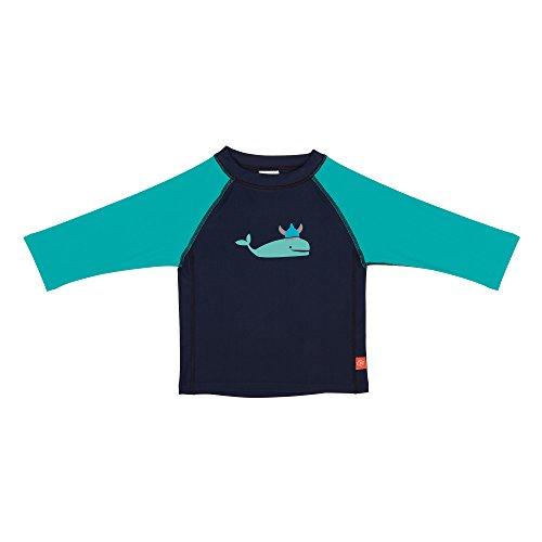 Lässig T-shirt pour bébé - à manches longues - Bleu (Blue Whale) - 6 Mois