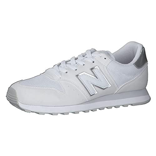 New Balance 500 Core Metallic Pack, Zapatillas para Mujer, Blanco, 20.5 EU