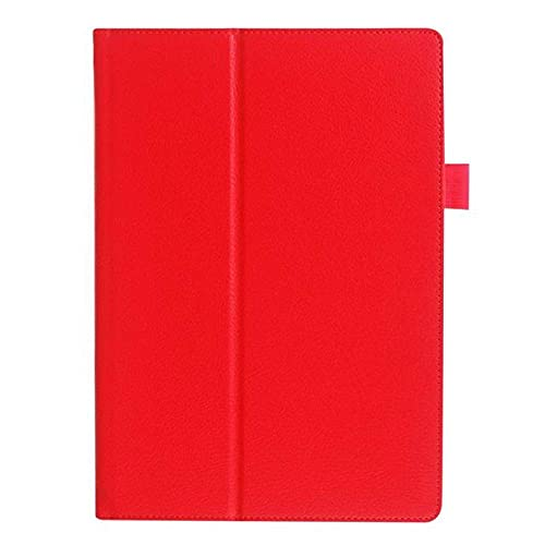 LIUCHEN Funda de tabletaPara Lenovo A10-30F TB2 X30L X30F Tablet 10.1 '' Funda De Cuero PU Delicado para Funda para Lenovo Tab 2 A10-30, Rojo