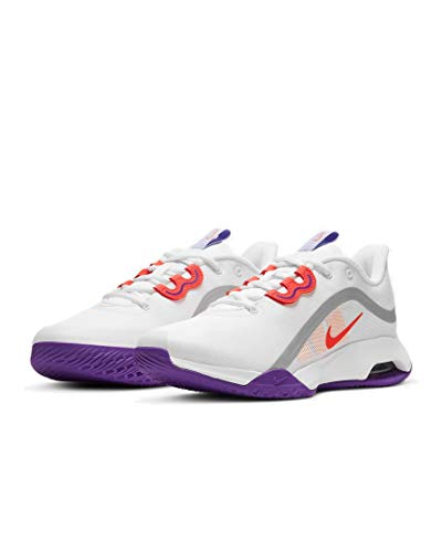Nike Air Max Volley, Chaussures de Tennis. Femme, White Bright Mango Purple Pulse, 40 EU