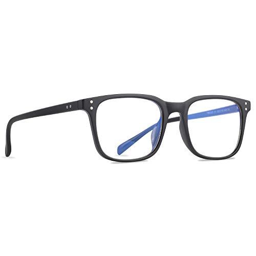 Occffy Blaulichtfilter Brille Ohne Sehstärke UV Gamer Gaming Brille von PC PS4 Computerbrille Augenbelastung Reduzieren für Herren Damen Oc092 (Schwarz)