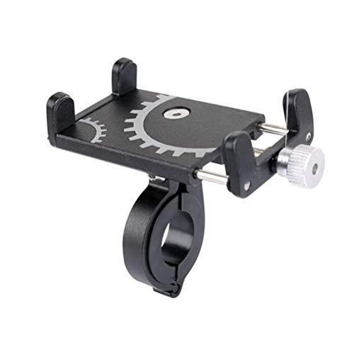 Soporte para teléfono de bicicleta, soporte universal para manillar de motocicleta, soporte para teléfono celular, aleación de aluminio