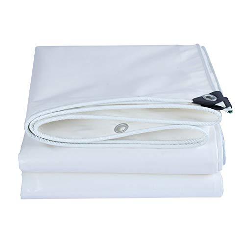 Tarp Large White/Standard Waterproof Tarpaulin,Heavy Waterproof Tarpaulin Sheet Tarp Cover With Eyelet, 350G / M² (Color: White, size: 2x2m)