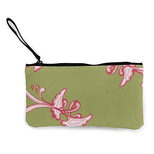 mengmeng Regal Flourish - Estuche para lápices de maquillaje, color rosa, rojo, verde