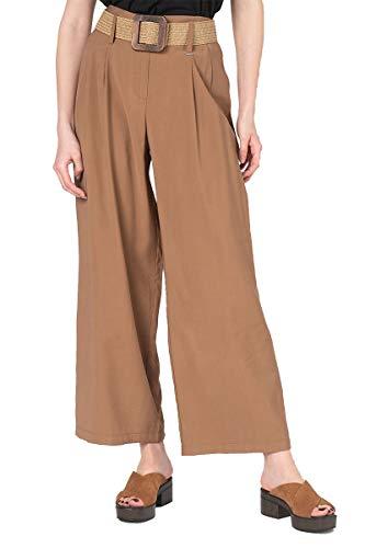 Silvian Heach Pants Massango Pantaloni, Marrone (Cathay Sp. Cathay Sp (Taglia Produttore:38) Donna