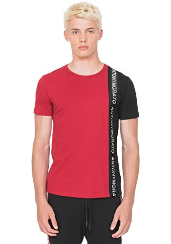 Antony Morato Camiseta Contraste Rojo para Hombre