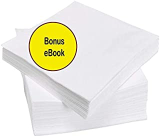 Cocktail Beverage White Paper Napkins: (1ply, White, 500ct)