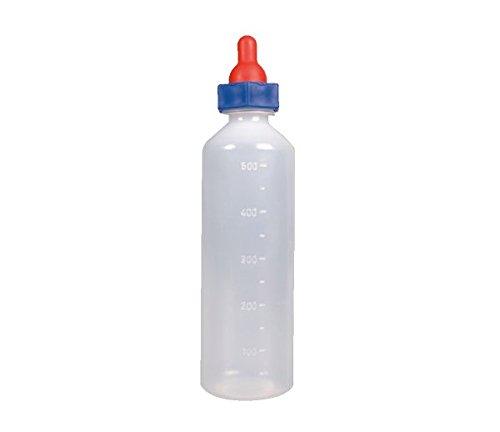 LÄMMER-TRÄNKEFLASCHE / LÄMMERFLASCHE *mit Skala und rotem +-Sauger* (1 Liter)