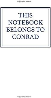 This Notebook Belongs to Conrad