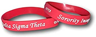 Diva Embossed Red Silicone Wristband