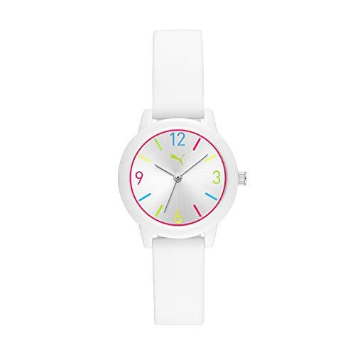 PUMA Women PUMA 1 Silicone Watch, Color: White (Model: P6000)