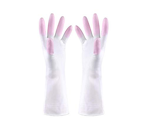 FEW Herbruikbare Afwashandschoenen met Latex Gratis Katoen Voering Vinyl Keuken Handschoenen