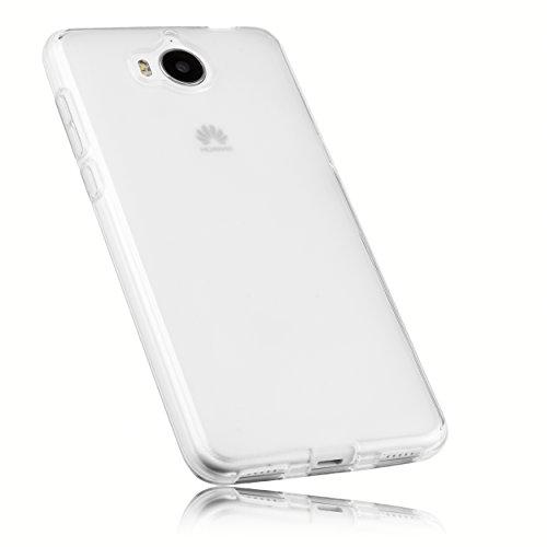 mumbi Hülle kompatibel mit Huawei Y6 II compact Handy Hülle Handyhülle, transparent Weiss