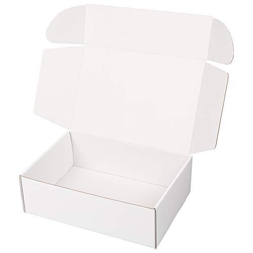 packer PRO Pack 25 Cajas Carton Envios para Ecommerce y Regalo Blancas Automontable, Mediana 34x23,5x11cm