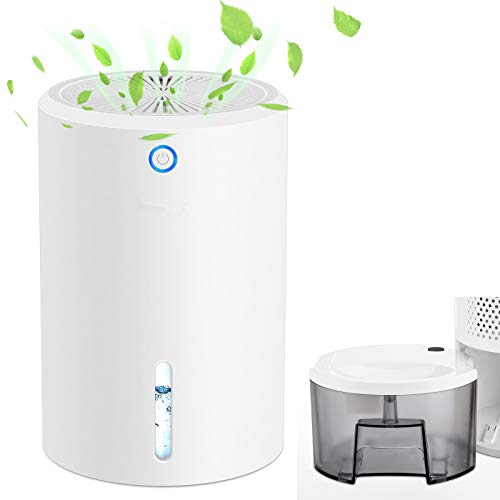 Dehumidifiers for Home Safe Dehumidifier with 900Ml Water Tank Capacity, Automatic Shutdown When Water is Full, Removable Water Tank Portable Dehumidifier Can Purify The Air, Ii Plug