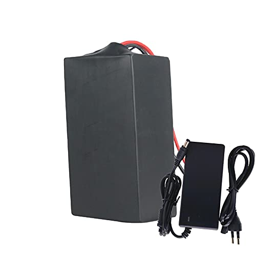 FREEDOH 48V E-bike Lithium-ion Battery Pack 25000mAh 13S10P E-bike Lithium Battery for 1200W Motor Suitable for Airplane Model E-Scooter Electric Bicycles (with BMS + Charger),XT60 Plug