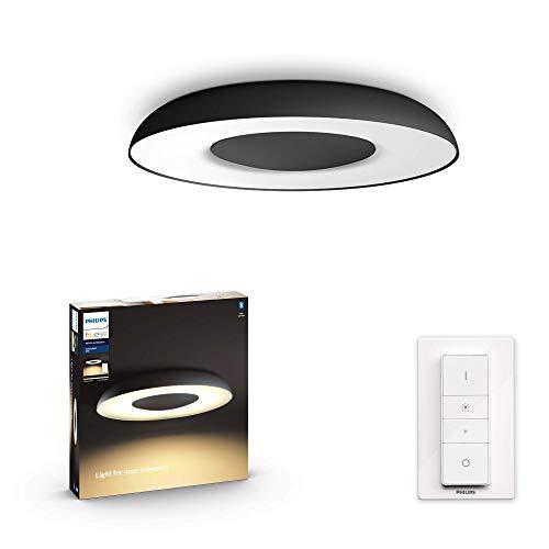 Philips Hue Still Plafón Inteligente LED negro con Bluetooth, Luz Blanca de Cálida a Fría, Compatible con Alexa y Google Home (915005914001)