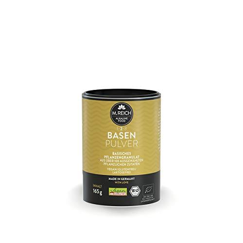 M. Reich Basenpulver 165g Bio Vegan | Natürliche Basen | Rein pflanzliches Pulver | Ohne Synthetische Citraten | Entsäuerung Mineralstoffe Mineralien Vitalstoffe