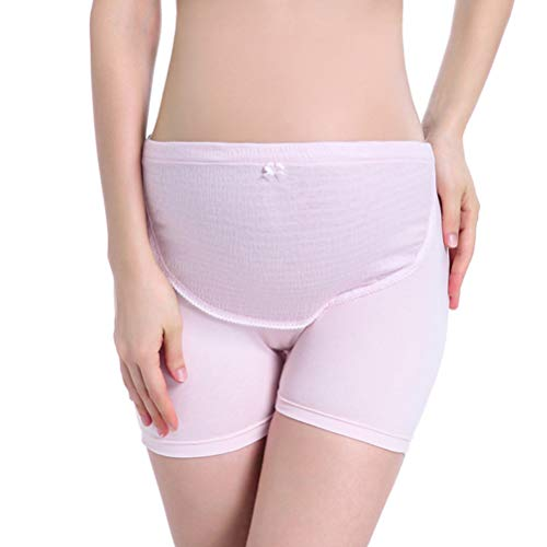 EXCEART Culotte de Maternité Taille Haute pour Femmes sur Bosse Culotte de Maternité Et d'allaitement en Coton Réglable sous-Vêtements pour Femmes (Rose Taille XXL)