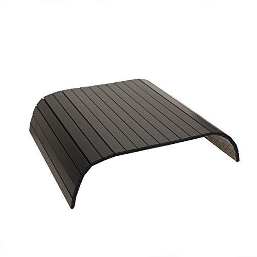 GEHE Sofa Armablage Tisch für Couch Flexibel faltbar Sofa Tablett Couch Arm Tisch Perfekt für Getränke, Snacks Fernbedienung oder Telefon Großartiges Armtablett für Couch Armlehne Mahagon