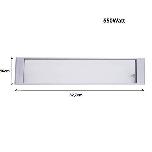 Infrarot Heizstrahler Glas 550W Dunkelstrahler Infrarot-Heizung Deckenstrahler