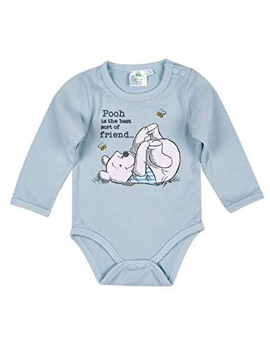 Winnie l'ourson Body Manches Longues bébé Bleu de 3 à 24mois - Bleu, 18 Mois