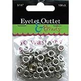Eyelet Outlet (3-Pack) Eyelets and Washers 3/16 inch, 50 Eyelets, 50 Washers QEYE-169