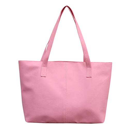 Dorical Damen Handtasche Damen Gross arbeitstasche Crossbody Taschen Umhängetasche Shopping Bag Tragetasche Taschen Handtaschen/Schultertasche Leichte Stylische Tote Bag für Frauen(Rosa)