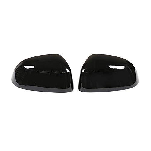 LBZZY Espejo Retrovisor Negro, para BMW X5 X7 F15 G05 2014-2019 X6 15-19 X3 X4 18-19 Black Retrovisor Espejo Cubierta Lateral ala Espejo De Espejo Protector