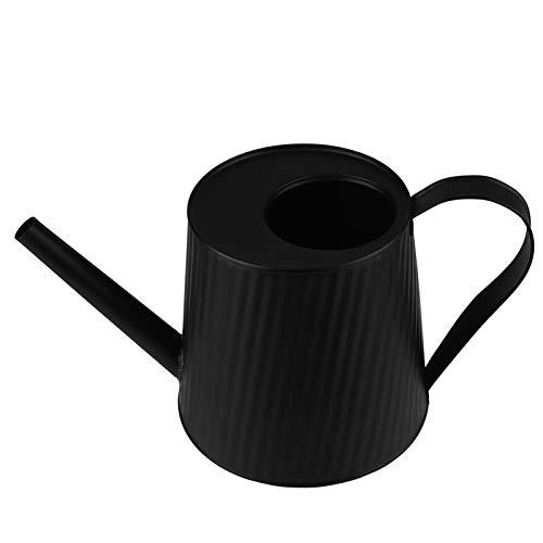 UPKOCH - Regadera de metal con boquilla larga para plantas de interiores y exteriores, color negro