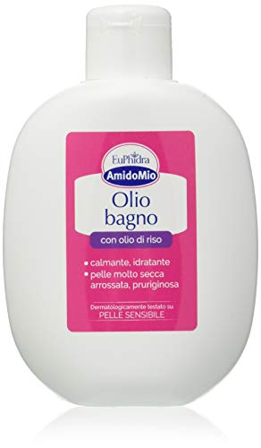 Amido Mio Olio Bagno Olio di Riso - Pelle Molto Secca, Arrossata, Pruriginosa - 200 ml