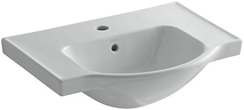 KOHLER K-5248-1-95 Veer Single-Hole Sink Basin, 24-Inch, Ice Grey