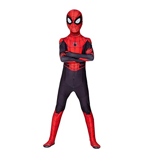 Kind Rot Blau Muskel Spiderman Kostüme 3D-Druck Cosplay Kostüm Anzug Bodysuit Verbundene Siamesische Enge Für Halloween Karneval Party Onesies Kostüm,Red Blue-Adult(150~160cm)