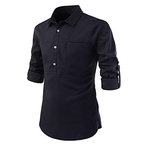 SSBZYES Camisas para Hombre Camisas Casuales De Verano De Manga Corta para Hombre Camisas De Color Sólido...