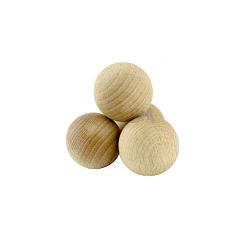For Forest 10 Sfere di Legno 30mm Palline Legno 30 mm Colore Naturale Grezzo Palle Perline Non verniciate Senza Foro No Buco