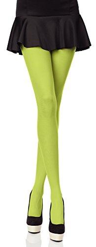 Merry Style Bunte Damen Strumpfhose Microfaser 40 DEN (Grasgrün, 4 (40-44))