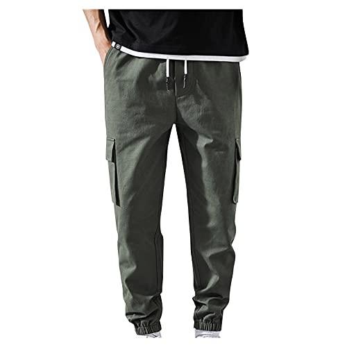 Briskorry Herren Cargo Jogging Pants Hose Bequeme Outdoor Stretch Cargo Hose, Schwarz Lange Jogginghose, Arbeitshose Wanderhose, Freizeithose, Trekkinghose für Männer