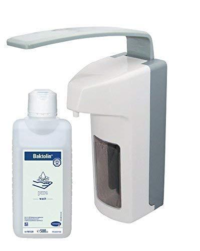 Medi-Inn Wandspender Eurospender Kunststoff 500 ml langer Armhebel + Bode | Hartmann Baktolin pure Waschlotion 500 ml